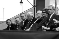 With President Bush et al at dedication of Lincoln Library and Museum.