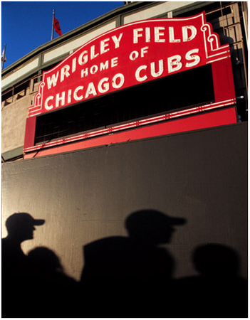 The pictures in this gallery were made throughout the summer of 2001; the last pictures taken on September 10.  (I was scheduled to fly home to DC on Sept. 11). The pictures were to be published in a book on Wrigley Field, which never came to be.