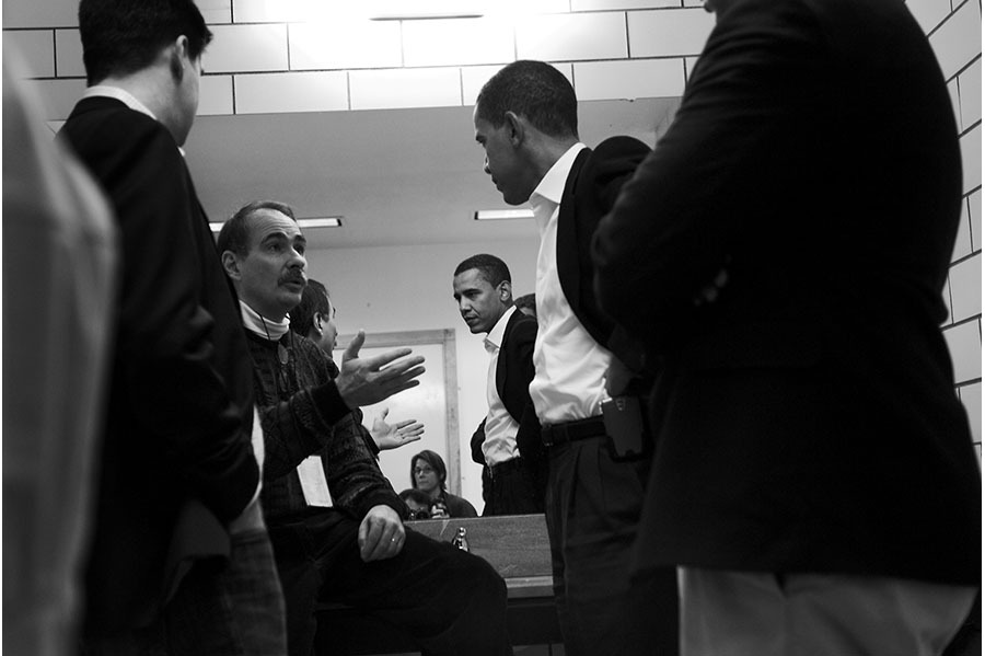 Backstage with strategist David Axelrod.